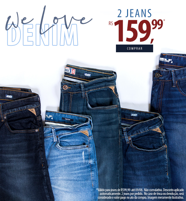 combo 2 Jeans R$159,99